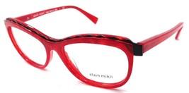 Alain Mikli Rx Eyeglasses Frames A02019 1056 54x16 Marbled Red / Matte Black - $105.06