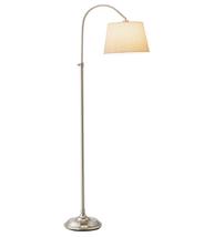 Adesso 3188-22 Bonnet Floor Lamps 13in Satin Steel 1-light - $130.00