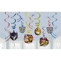 Transformers 4 Core Hanging Swirl Decorations Birthday Party Supplies 12... - $5.89