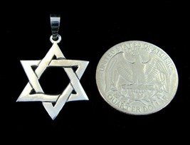 Jewish/Hebrew STAR of DAVID Pendant, Handcrafted in Solid 925 Sterling S... - $18.76