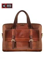 NEW MANCINI LEATHER CALABRIA DUAL COMPARTMENT LAPTOP & TABLET BRIEFCASE ... - $247.45
