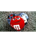 -122- Vintage M&M's Ceramic Candy Dish Valentines Day Red Purple Heart - $25.20