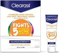 Clearasil Acne Treatment Cream Benzoyl Peroxide Stubborn 5 in 1 Spot Bla... - $11.99