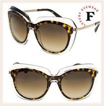 DOLCE & GABBANA DOUBLE LINE Crystal Havana Oversized 4282 Sunglasses DG4... - $227.70