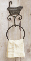 Rustic Cast Iron Bathroom Towel Ring Wall Mount BATH Bathtub Towel Ring ... - ₨1,692.90 INR
