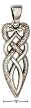 Pendant Sterling Silver Twisted Celtic Snakes Pendant - $78.99+