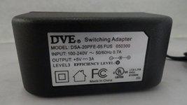 DVE AC Adapter Power Supply 5V 3A Model: DSA-20PFE-05 FUS 050300 - $11.87
