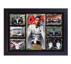 Lewis Hamilton Formula 1 Mercedes signed autograph Framed pre-print poster - $22.74