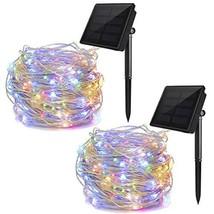 ALHXF Solar Lights String Lights, 2 Pack 100 LED Lights 39 feet 8 Modes ... - $15.93