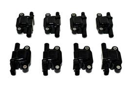 "Chevy GMC GM LS LSX LS1 LS2 LS3 LS6 8 Coils & 11"" 8mm Red Spark Plug Wires D510C image 2"