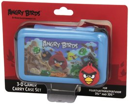 Angry Birds 3d Gamer Carry Case Set - 4pc: Blue (nintendo 3ds/ds) - $16.09