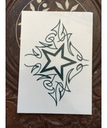 Temporary Tattoo Star With Design Artwork Art Body Decoration Removable - $5.52