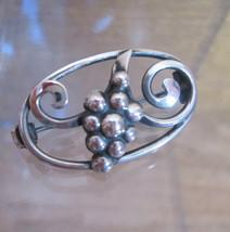 Sterling Silver Brooch, Modernist HOPS Botanical Design, Denmark, Craft ... - $183.15