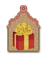 Christmas Gift Ornament Kit cross stitch Colonial Needle  - $13.50