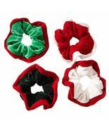 8 Pcs Colorful Christmas Hair Scrunchies Plush Winter Hair Band Ponytail... - $17.11