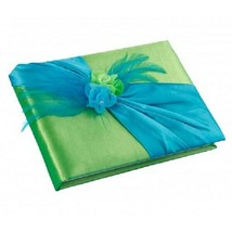 Green & Blue guest book and pen set wedding guests signatures sign in book - $32.65