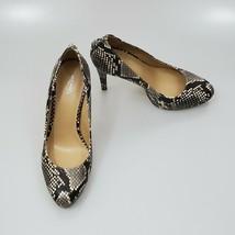 Michael Kors MK Women's Antoinette Leather Closed Toe Snakeskin Print Si... - $69.25