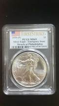 2020 (P) Silver Eagle PCGS MS 69 FS Emergency Issue White Spots Actual Coin 8102