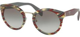 Prada Women's Sheaves Bordeaux Green Cat-Eye Sunglasses PR 05TS VAP0A7 - Italy - $149.99
