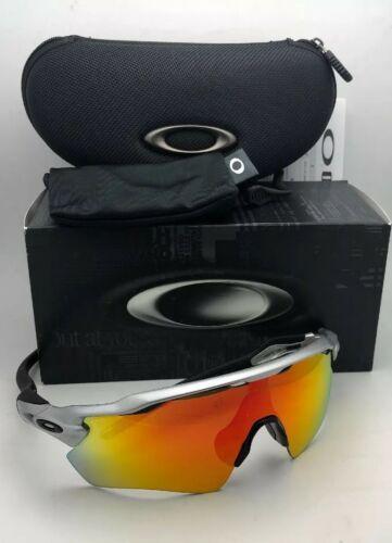New OAKLEY Sunglasses RADAR EV PATH OO9208-02 Silver-Black Frame w/ Fire Iridium