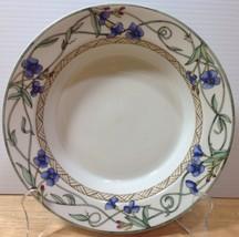 Dansk Umbrian Flowers Rimmed Soup Bowl Blue Flowers Weave Band I HAVE MORE PCS - $34.58