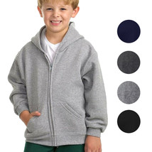 Boys Kids Toddler Athletic Soft Fleece Lined Zip Up Hoodie Sweater Jacket