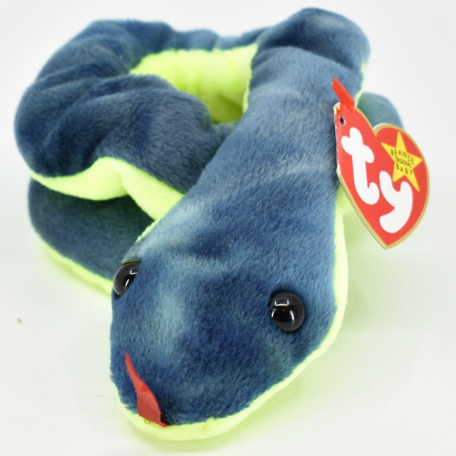 1997 TY Beanie Baby Original Hissy the Snake Retired Beanbag Plush Toy