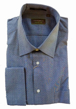 15 32/33 NWT Authentic Joseph Abboud Profile Men Navy Blue Pin Dot Dress... - $174.35 CAD