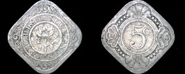 1929 Netherlands 5 Cent World Coin - $14.99