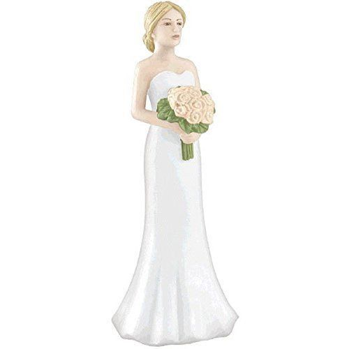 "Primary image for Blonde Bride Cake Topper 4 1/8"" Plastic"