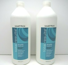 2 Matrix Total Result Amplify Volume Shampoo 33.8 Oz Color Treated Hair ... - $39.59