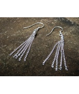 Haunted the Magickal Powers of FIVE 5 EARRINGS 925 sterling silver chains - $33.33