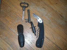 Bar Set 4 Pc  corkscrw/bottle opener, stopper,spreader + skeleton key  ... - £10.32 GBP