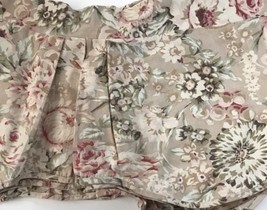 Set 3 AMERICAN LIVING RALPH LAUREN Valance FLORAL Scalloped Tan Red Pink   - $77.80
