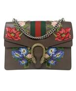 NEW Gucci Web Dionysus Medium Brown Floral Embroidered Leather Shoulder Bag - $2,018.43