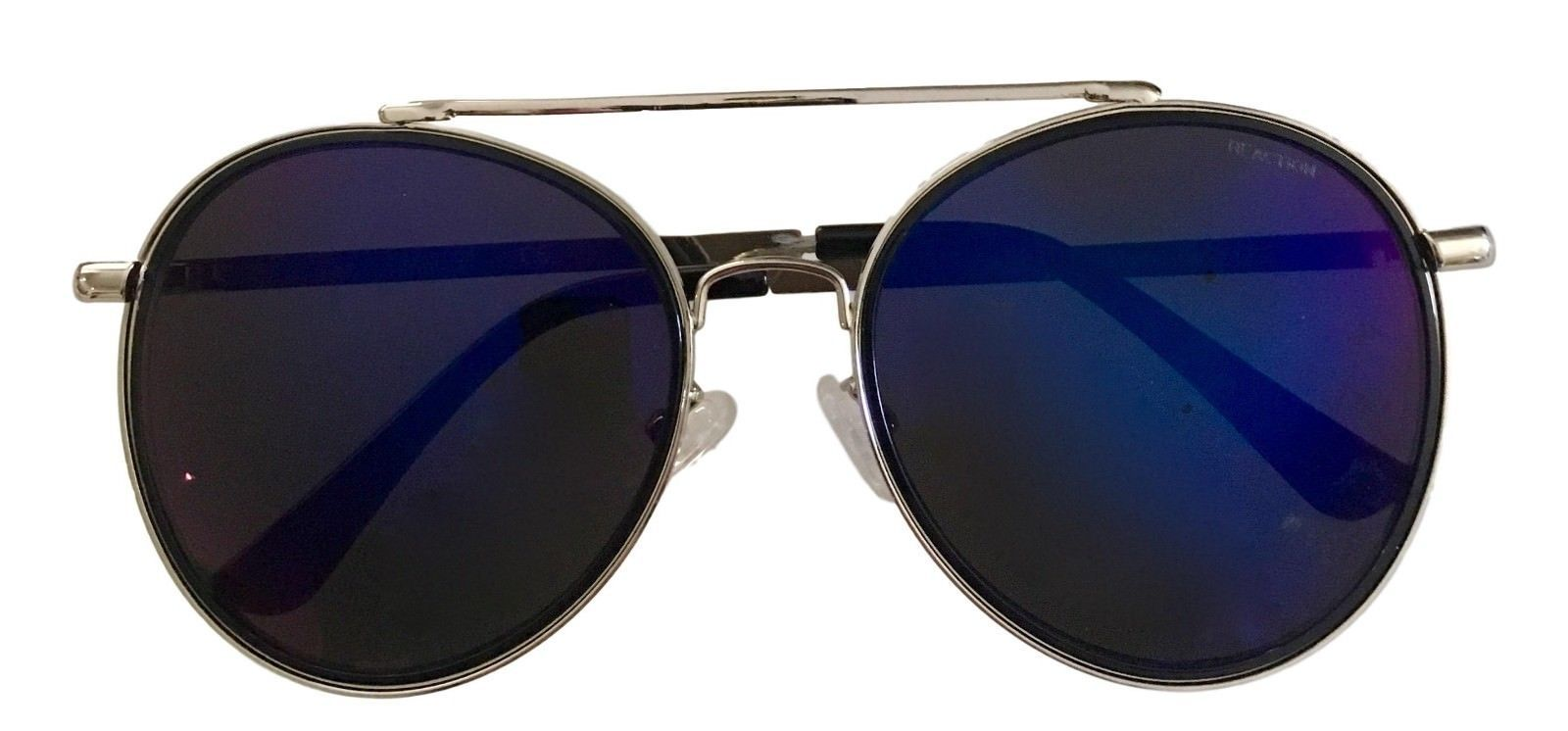 Kenneth Cole Reaction Mens Sunglass Round Silver Metal Blue Flash KC1313 10X image 4