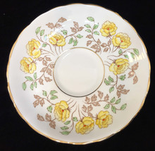 Saucer Tuscan Bone China Yellow Floral Flower Leaf Vintage Made England ... - $7.91