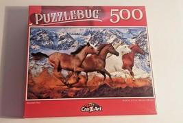 PuzzleBug Mountain Running Wild Horses Jigsaw Puzzles Mustangs 500 pcs New - $8.91