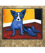 George Rodriguez Art oil painting printed on canvas home decor Blue Dog - $12.99+