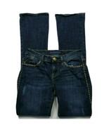Rock & Republic Womens Kasandra Boot Cut Jeans Size 2 Dark Wash Jeweled ... - $33.06
