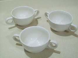 Vintage Homer Laughlin HLC Restaurant Ware Bouillon Cups Bowls USA Set of 3 - $25.00