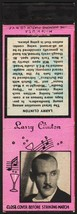 Vintage matchbook cover LARRY CLINTON swing bandleader with his picture ... - $8.99