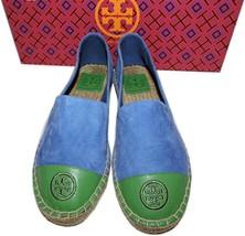 a58279dcc Tory Burch COLOR-BLOCK Blue Suede Flats Loafer Espadrille Ballerina Shoe  6.5 -  139.00