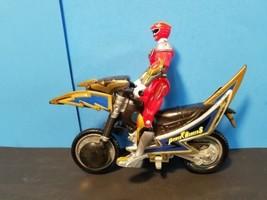 Bandai Power Rangers Ninja Storm Blue Tsunami Cycle Red Ranger Figure - $12.60