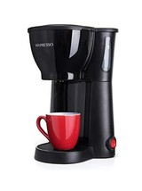 Mixpresso Mini Compact Drip coffee Maker With Brewing Basket, Black (Black) - $22.68