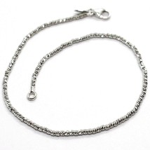 18K WHITE GOLD BRACELET WITH FINELY WORKED SPHERES, 1.5 MM DIAMOND CUT BALLS image 1