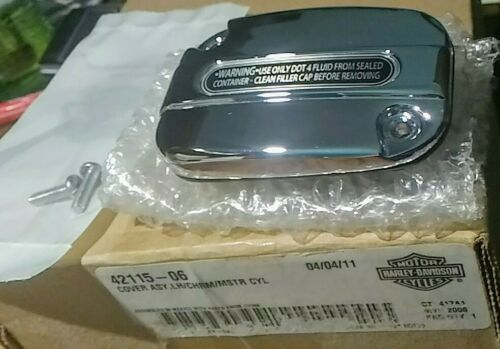 Chrome Front Clutch Master LH Chrome Cylinder Cover 42115-06 Harley-Davidson - $24.75