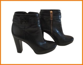 Tory Burch Black High Heel Platform Ankle Boot 5 - $195.00