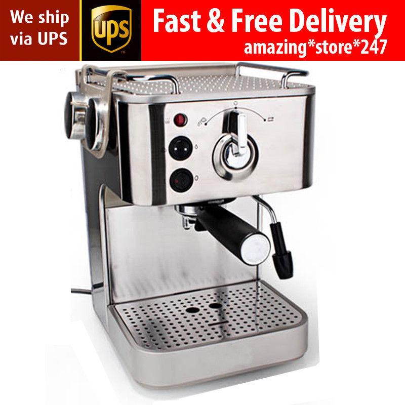 Semi-automatic Italian 19 Bar Cappuccino Espresso Coffee Maker Machine for sale  USA