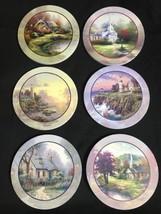 Thomas Kinkade Painter of Light Village Christmas Cork Bottom Coasters S... - $33.71